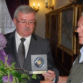 Wizyta Bractwa Gwarków u Prezesa KHW SA R. Łoja