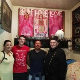 Wizyta młodzieży w Izbie Tradycji