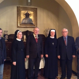 Wizyta Zarządu Bractwa Gwarków u Biskupa Pomocniczego