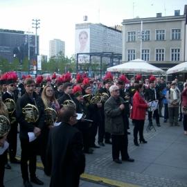 150 muzyków górniczych orkiestr dętych na 150-lecie Katowic