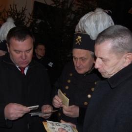 Odsłonięcie tablicy upamiętniąjcej tragedię górnośląską 1945