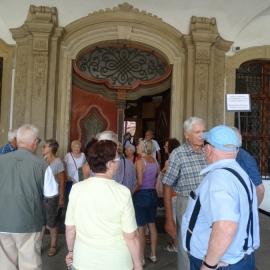 Zwiedzanie zamku w Książu